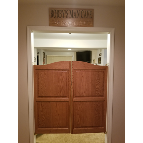 Doors installed with Premium Grade Gravity Hardware